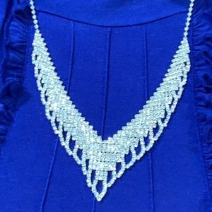 Icing FABULOUS RHINESTONES in Silver NECKLACE!